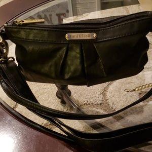 timi & leslie black leather shoulder bag